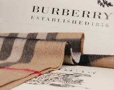 BURBERRY 100% CASHMERE AUTHENTIC SCARF CAMEL CHECK WITH TAG BRAND NEW BLACK*