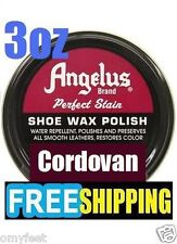 Angelus Shoe Wax Polish High Gloss Army Shine Cordovan Leather Care Bees wax new