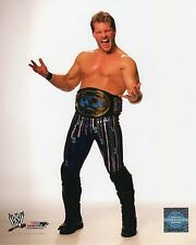 "CHRIS JERICHO WWE PHOTO 8x10"" OFFICIAL WRESTLING PROMO IC CHAMPIONSHIP BELT"