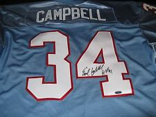 Earl Campbell Houston Oilers Signed NFL Jersey Tri Star