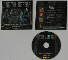 Dimmu Borgir & 4 Others - Death Cult CD Promo In Picture Cover Card Sleeve