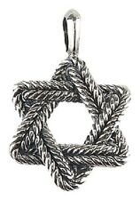 David Yurman Large Sterling Chevron Star of David MENS Pendant New