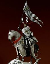 Pegaso Models 75mm Teutonic Knight White Metal Figure Kit #75-912