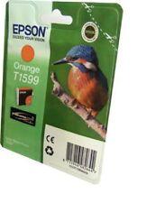 Epson Original Kingfisher T1599 UltraChrome Orange Ink Cartridge FOR R2000