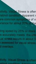 A5 115 Turquoise Coloured Sheet Overlay Dyslexia Transparent Stress reading