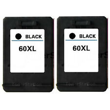 2x Ink Cartridge for HP 60XL Black Deskjet D2560 D5560 F2410 F4280 F4480 Printer