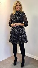 New Look Black Leopard Print Dress Size 10 as seen on Holly Willoughby