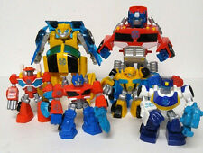 Transformers Rescue Bots Energize Toy Lot Chase Optimus Prime Bumblebee Heatwave