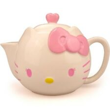 1 Liter Ceramic Kitty Face Pink Bow Design Easy Office Home Use TEAPOT SET