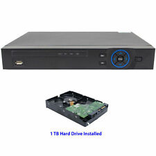 HD CVI 4 Channel DVR,Works with CVI,Analog and IP(2CH) Cameras+Installed 1TB HDD