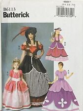 BUTTERICK 6113 Costume Sewing Pattern Princess Pirate Kids 3-8 Uncut FF