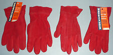 Lot of 2 Pair - Vintage Wolverine Gloves - Buckskin Red - 1950s - NEW with TAGS