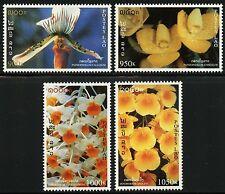 Laos Lao 1998 Orchideen Orchids Blumen Flowers Blüten Blossoms 1639-42 ** MNH