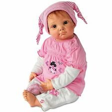 Ashton Drake - ''JULIA & THE SOCK GOBLIN'' Baby girl Doll by Elly Knoops