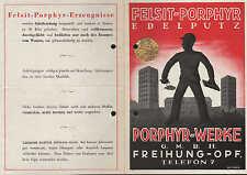 FREIHUNG-OPF., Werbung um 1950 für Felsit-Porphyr-Edelputz, Porphyr-Werke GmbH