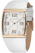 Police Ladies Vision X Watch White Leather Strap & Rose Gold 13937MSR-04
