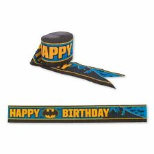 Batman Birthday Party 30' Crepe Streamer - DC Superhero Decorations Bunting
