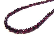 Gorgeous Fancy 925 Sterling Silver 90cttw Faceted Garnet Nugget Necklace F39