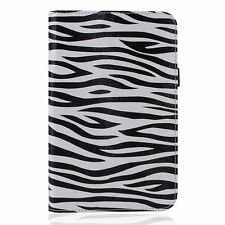 Zebra Print Multi-Function Leather Stand Case for Google Nexus 7 II 2nd Gen 2013