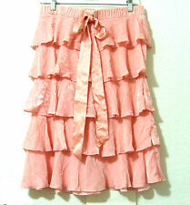 Juicy Couture NWT Peach Pink Crushed Velvet Tiered Skirt or Strapless Dress P