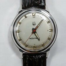HANDSOME 1968 VINTAGE STAINLESS STEEL BACKSET CLASSIC BULOVA 214 ACCUTRON