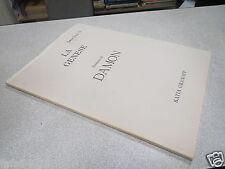 CATALOGUE DAMON LA GENESE PEINTURES DE DAMON 1986 KATIA GRANOFF *