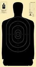 """Official NRA B-27 silhouette targets [24"""" x 45""""] and B-27C centers (10 each)"""
