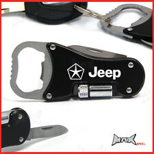 CHRYSLER JEEP Lasered Logo Keyring / Pocket Knife / LED Torch / Bottle Opener