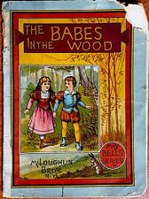 BABES IN THE WOOD ~ Antique 1900's McLoughlin Bros Book 4 Color Plates