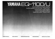 Yamaha EQ-1100/U Owners Manual For Natural Sound Graphic Equalizer Replacement