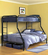 Bunk Bed for Kids Twin over Full Double Loft Metal Bedroom Furniture With Stairs