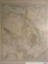 Landkarte von Nordöstliches Afrika, Libysche Wüste, Kongo, Lithographie 1886