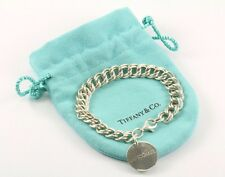 TIFFANY & CO Lancome Round Tag Bracelet Sterling Silver BR 1028-E