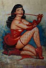 "BETTIE PAGE Flag/ Tapestry/ Fabric Poster  ""Dont Tred Me""     NEW"