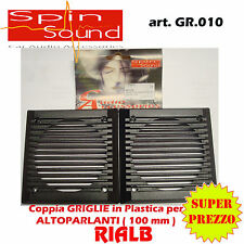 COPPIA GRIGLIE IN PLASTICA PER ALTOPARLANTI 100 mm GR.010 SPIN SOUND by S.I.P.E.
