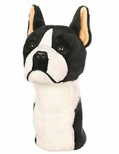 Boston Terrier Golf Animal Headcover - Driver Head Cover Daphnes Golf Club Cover