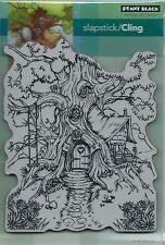 """Cottage Treehouse"" Slapstick/Cling Stamp by Penny Black"