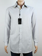 Rosso Fiorentino mens Size L XL long sleeve white stripe shirt