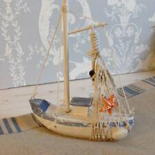 Rustic Blue and White Fishing Boat - Nautical Seaside Fisherman's Christmas Gift
