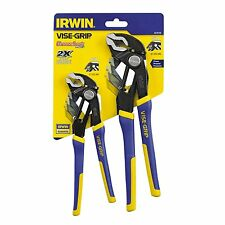 NEW IRWIN VISE GRIP 2078709 2PC SET GROOVE LOCK ADJUSTABLE TONGUE GROOVE PLIERS