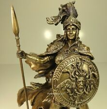 ATHENA GOD OF WISDOM WAR GREEK MYTHOLOGY Sculpture Statue Antique Bronze Finish