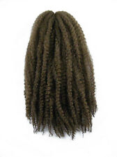CYBERLOXSHOP MARLEY BRAID AFRO KINKY HAIR #8 LIGHT BROWN DREADS SYNTHETIC