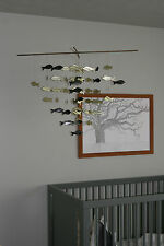 Vintage Mid Century Modern Fish Mobile/Sculpture- Baby Mobile- Eames Style