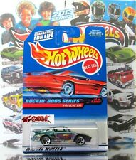 Hot Wheels 1997 #572 Porsche 930 GREEN,LATE VERSION,RED CAR CARD,5DOT,METAL BASE