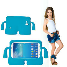 Kids Shockproof Case Blue Soft  Shell Cartoon Cover For Samsung Galaxy Tab3 7.0