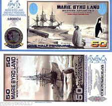 MARIE BYRD LAND ½ Penguino Banknote POLYMER FUN/ART Note Penguin