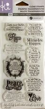HAMPTON ART KI Clear cling stamps SCO585 MIRACLES HAPPEN Card making & stamping