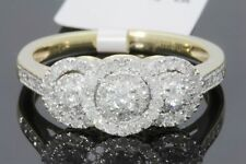 10K YELLOW GOLD .57 CARAT WOMENS REAL DIAMOND BRIDAL WEDDING ENGAGEMENT RING
