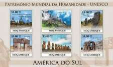Mozambique - World Heritage S. America Sites - 6 Stamp Sheet 13A-433