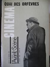 QUAI DES ORFEVRES CLOUZOT JOUVET DULLIN BLIER  AVANT-SCENE CINEMA No 29 de 1963